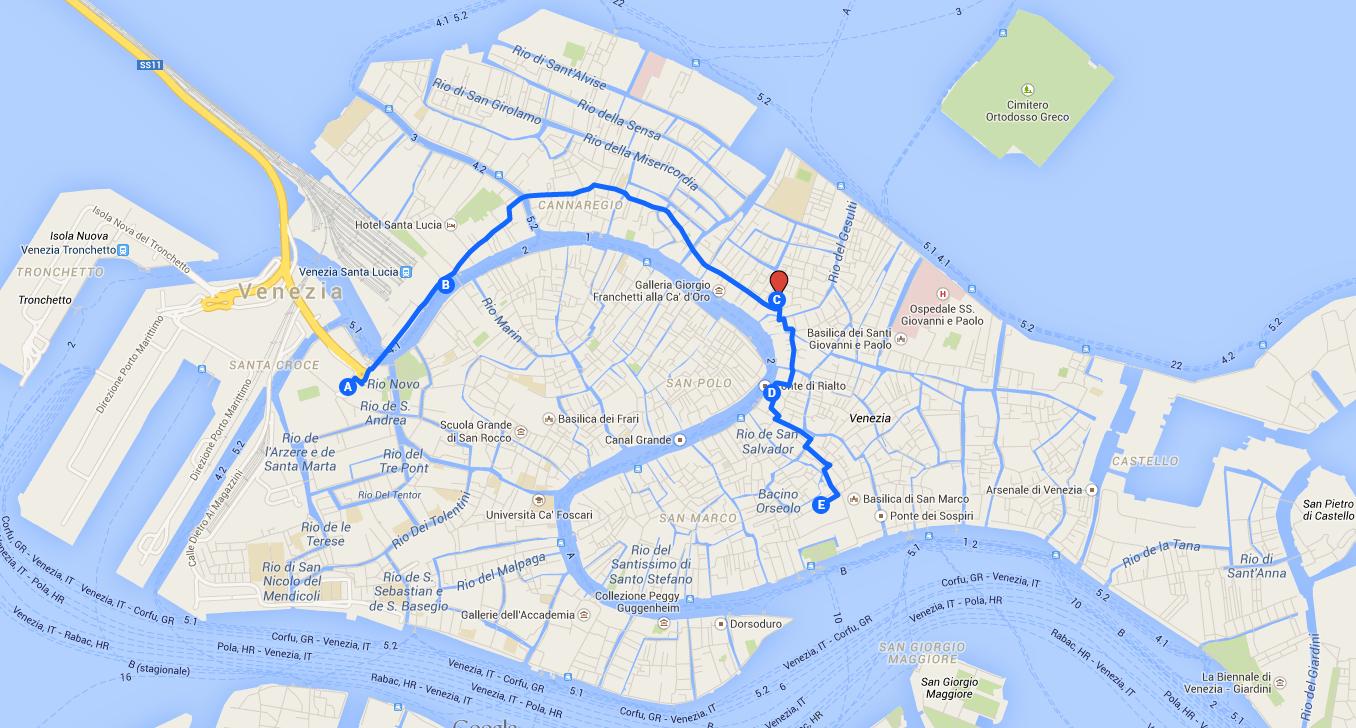 Meeting point Campo Santi Apostoli – Venice Map Tourist